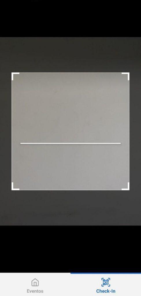 scanner de ingresso do aplicativo